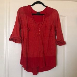 Left of Center from Anthropologie red top sz. XS